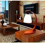 Décoration de la maison lumière méritée ACCUEIL Creative lampe de table en bois...