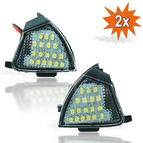 Do. environnement LED 155 2 x LED SMD Éclairage Lampe Miroir Miroir extérieur pfütze lumière ambiante lumière Plug & Play E de marque de contrôle Blanc froid pour rétroviseur extérieur