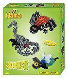 Hama 3239 - Geschenkpackung 3D Insekten, ca. 2500 Bügelperlen, Stiftplatte und 2 Motivstützen