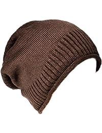 Kandharis warme Feinstrick Beanie Mütze Unifarben sehr weichem Innenfutter Unisex MT-16