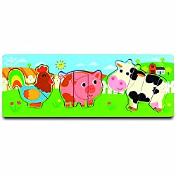 Vilac Melusines Early Development Puzzles, Farm Peg