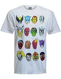 Marvel Comics - Herren T-Shirt - Figuren-Drucke von Captain America, Thor, Iron Man