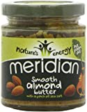 Meridian Nature's Energy Smooth Almond Butter 170g (Pack of 3)""