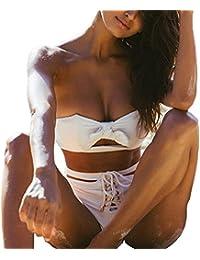 SHOBDW Mujeres sexy bikini de impresión de empujar-up bañador de baño bañado baño beachwear