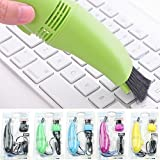 Dealcrox Mini Vacuum Cleaner for Laptop with USB Connection Keyboard Vacuum Sweeper Color Random