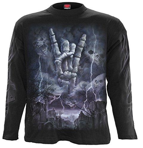Spiral Rock Eternal Langarm Shirt Biker Bike Motorrad Gothic Schwarz