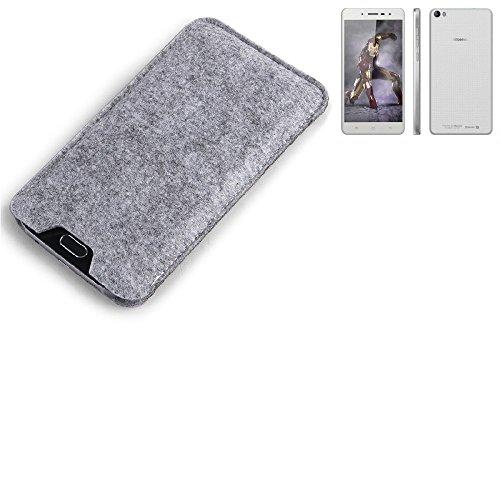 K-S-Trade Filz Schutz Hülle für Hisense L671 Schutzhülle Filztasche Filz Tasche Case Sleeve Handyhülle Filzhülle grau