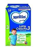 Mellin 3 Latte di Crescita in Polvere - 3 Confezioni da 2 x 600g