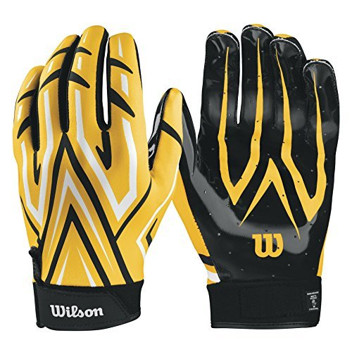 Wilson Clutch Receiver Gloves - Yellow  Large