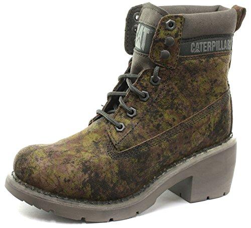"Caterpillar Ottowa 6"" Camouflage Femme Bottes, Vert Green Camo"