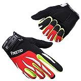 [Fahrradhandschuhe] FREETOO Radsporthandschuhe Vollfinger Mountainbike Handschuhe für Herren und Damen - Ideal gloves für Road Race