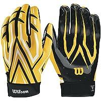 Wilson embrague guantes de receptor de fútbol americano, amarillo