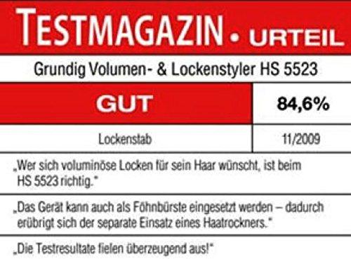 Grundig HS 5523 Keramik-Volumen und Lockenstyler, 1100 Watt, blau-silber - 2