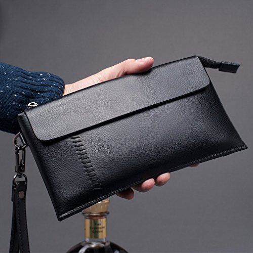 Htb Men Catch The Package Fashion Trendy Handbag Large Capacity Business Handbag Pacchetto Di Carte Di Telefonia Mobile Nero