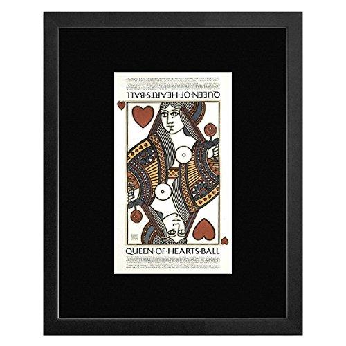 Queen of Hearts Ball-Galleria San Francisco 1977gerahmtes Mini Poster-20x 18cm