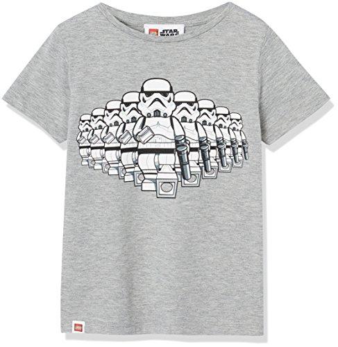 RED WAGON Jungen T-Shirt mit Lego Star Wars-Print, Grau (Grey Marl), 110 (Herstellergröße: 5 Jahre)