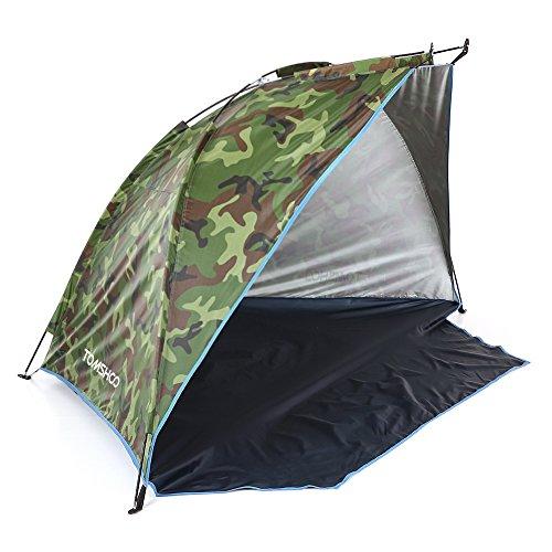 TOMSHOO Tienda de Campaña Refugio del Sol para Pescar Picnic Deportes al Aire Libre en Playa o Parque con 3 Palos y 4 Estacas y un Saco de Almacenamiendo