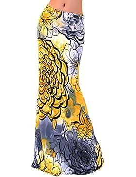 Faldas Mujer Verano Estampados Flores Talle Alto Slim Faldas Largas Elegantes Vintage Boho Etnicas Estilo Playa...