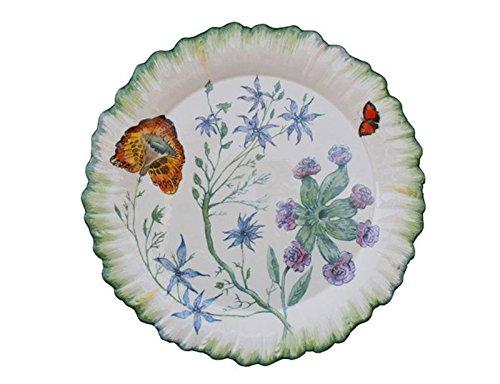 Faïencerie de Niderviller Assiette Plate Ronde Folies botaniques faïence - Lot de 4