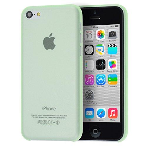 doupi UltraSlim Case iPhone 5C fin mat ultra mince et ultra léger Bumper Cover Housse de Protection Shell Coque - noir Vert