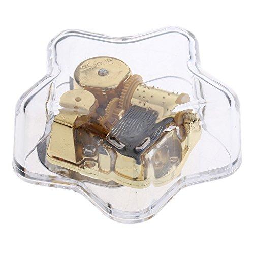 MagiDeal Transparent Musik Box, Spieldose mit Schönen Melodien, Boutique Geburtstag Weihnachten Geschenk -Stern - Erstaunliche Gnade (Gnade Geschenk)