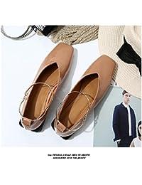 GAOLIM En La Primavera De Zapatos De Mujer Singles Femeninos Zapatos Bajos De Cabeza Cuadrada con Zapatos De Mujer...