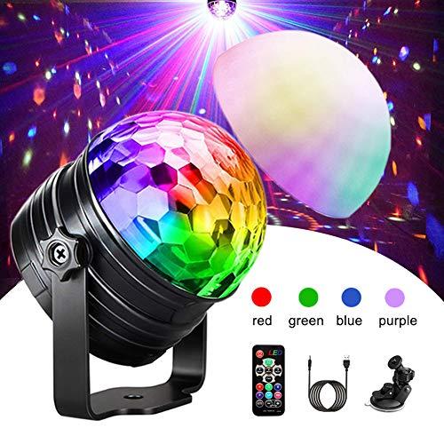 Discokugel, iBesi RGBP Disco Licht LED Partylicht & Nachtlicht 15 Farbe Lichteffekte mit USB Fernbedienung 180°Drehbares Kinder Disco Ball für DJ Halloween Weihnachten Geburtstag Partei