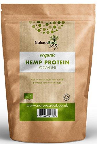 Natures Root Bio Hanfprotein Pulver 500g - GMO Frei | Kaltgepresst | Glutenfrei | Vegan -
