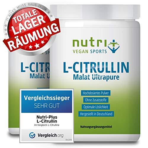 TESTSIEGER L-Citrullin 2019 - L-CITRULLINE MALAT Pulver 1kg Vegan - höchste Dosierung & Reinheit - Bodybuilding Fitness - Malate DL 2:1 - hergestellt in Deutschland - Doppelpack