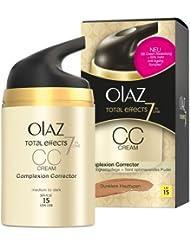 Olaz Total Effects CC Crème, Dunklere Hauttypen, Pumpe, 1er Pack (1 x 50 ml)