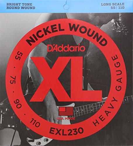 D'Addario EXL230 - Juego de cuerdas para bajo eléctrico de níquel, 055'...
