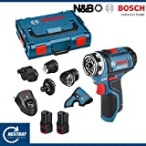 Bosch Professional GSR 12V-15 FC Cordless Drill Driver Set with Two 12 V 2.0 Ah Lithium-Ion Batteries - L-Boxx