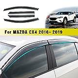 Jiahe per Maz da CX-4 2016-2019 4PCS Deflettori d'Aria per Auto Deflettore Pioggia Vento Bloccare Sole Deflettori d'Aria Antiturbo