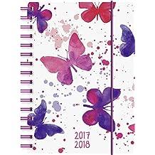 Brunnen 1072975048 Schülerkalender Schmetterling (1 Tag in 1 Seite, August 2017 bis Juli 2018)