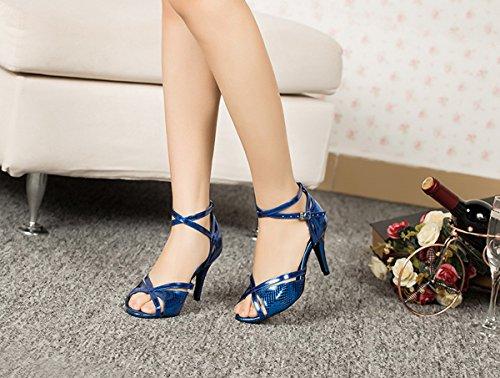 Miyoopark , Salle de bal femme Blue-8.5cm Heel
