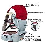 MÄRZANGEBOT - Premium Baby Carrier abnehmbarer Hüftsitz, Pop auf Kapuze, abnehmbare Lätzchen und FULL Rain Cover. Ergonomisches Taillenband.100% Baumwolle, atmungsaktives Mesh-Rücken. Sicher und beruhigend für Baby.