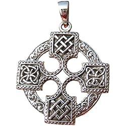 925 Plata Celta Caballeros Templarios Cruz Collar Colgante joyería Arte A23