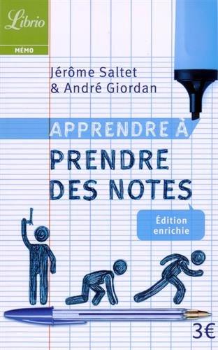Apprendre à prendre des notes par André Giordan