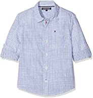 Tommy Hilfiger boys Cotton Slub Dobby Shirt L/s Blouse