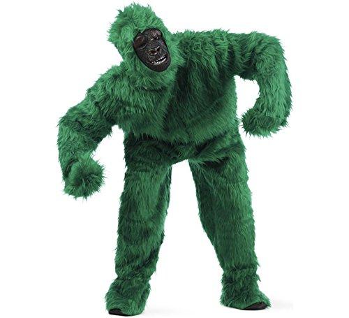 Gorilla Fun Kostüm perfekt für Karneval und Mottoparty grün - L (Bunte Gorilla Kostüm)