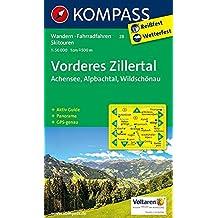 Vorderes Zillertal/Achensee/Alpbachtal/Wildschönau: Wanderkarte mit Aktiv Guide, Panorama, Radwegen und alpinen Skirouten. GPS-genau. 1:50000 (KOMPASS-Wanderkarten, Band 28)
