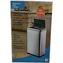 Sensible Eco Living 80L Hands-Free Motion Sensor Large Waste Bin/Trash by Sensible Eco Living
