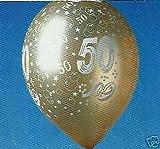 10 Luftballons 50.Geburtstag goldene Hochzeit gold d:30cm