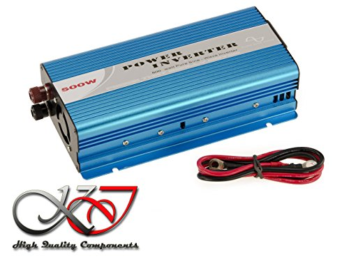 KALEA-INFORMATIQUE. Konverter Spannung Changer 12V in 220V (Inverter AC – DC) – Signal PUR Sinus (Pure Sine Wave) – Leistung 500W (1000W, Spitzenleistung)