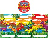 12 Dinosaur Design Childrens Party Bags / Kids Fillers Gifts Favours Toys Sweets