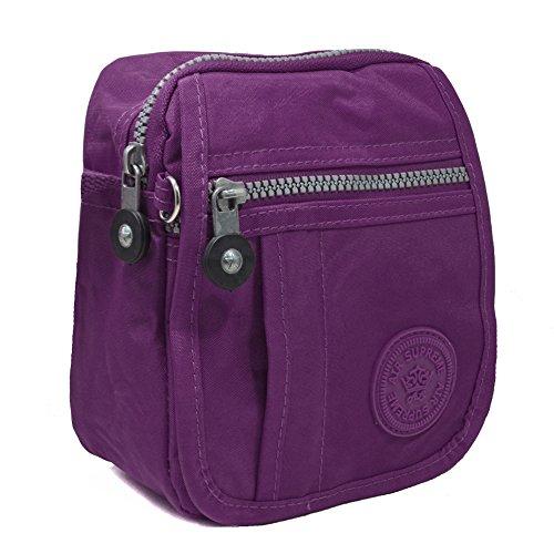 YourDezire , Borsa Messenger unisex adulti Purple