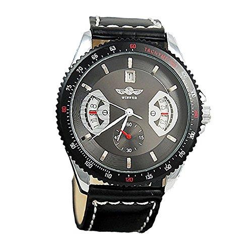 ESS Z71–Armbanduhr Herren, Lederband schwarz