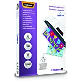 Fellowes 53062 - Pack de 100 fundas para plastificar, brillo formato A3, 80 micras