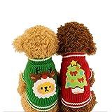 Winter Pet Costume de Noël en tricot chaud Festival Pull pour petits chiens et chats
