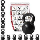 POWRX Kettlebell 4-30 kg Kugelhantel Guss (16 kg)